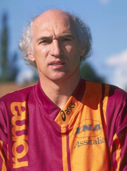 A portrait of Carlos Bianchi the Trainer of Roma